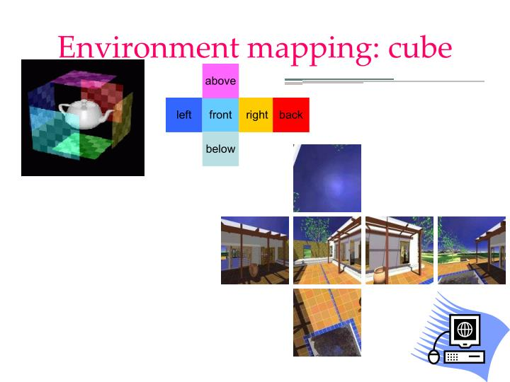 Environment mapping: cube