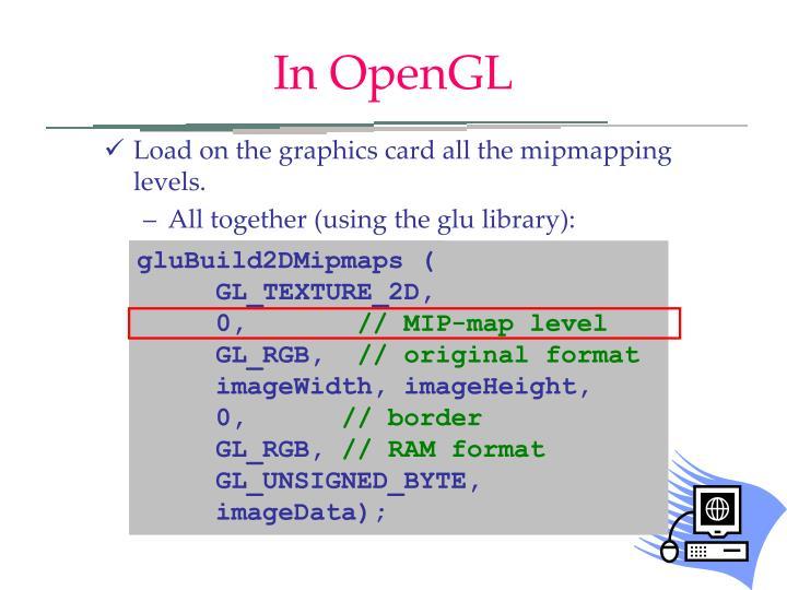 In OpenGL