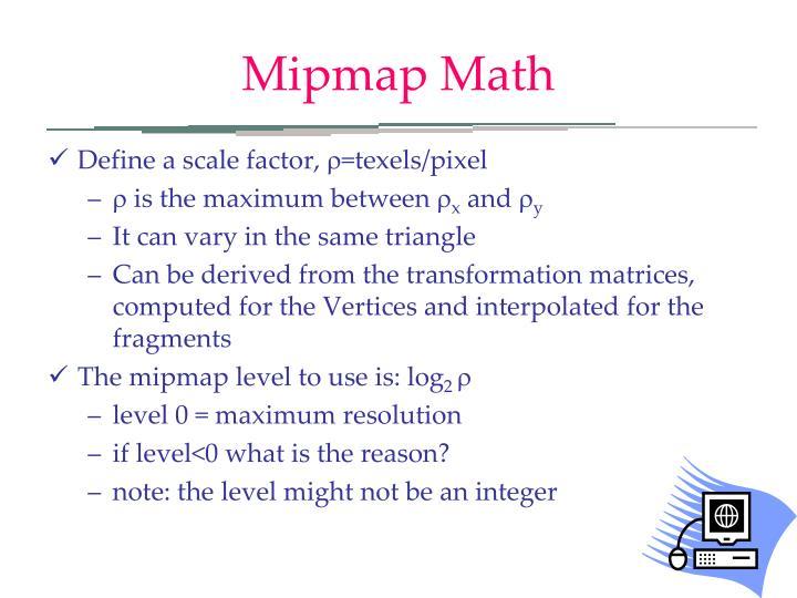 Mipmap Math