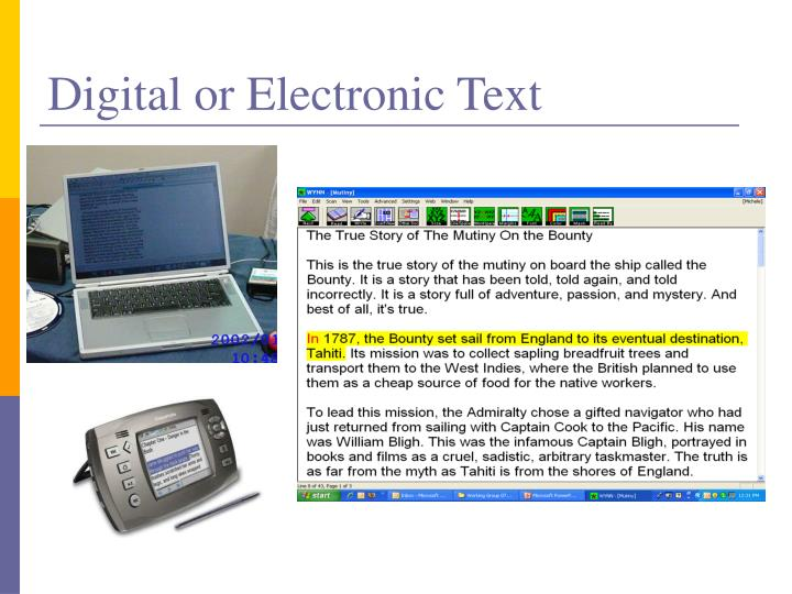 Digital or Electronic Text