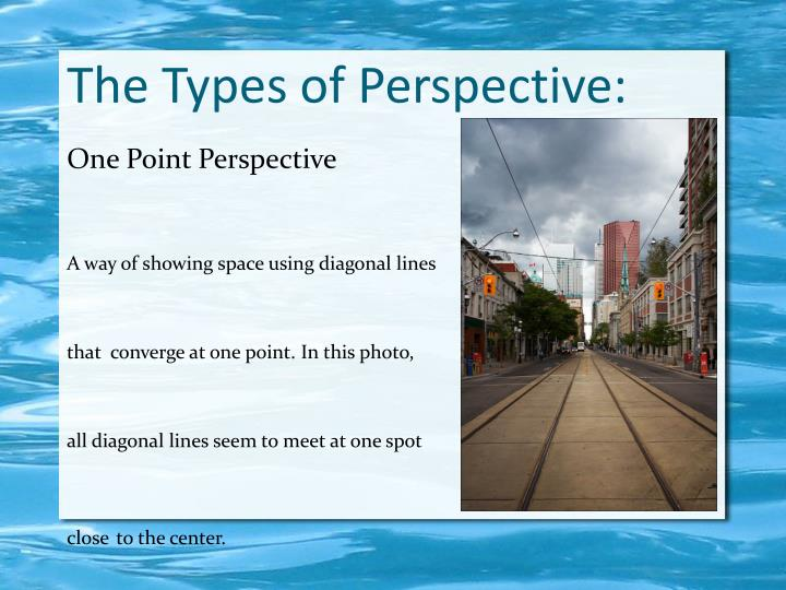 The Types of Perspective: