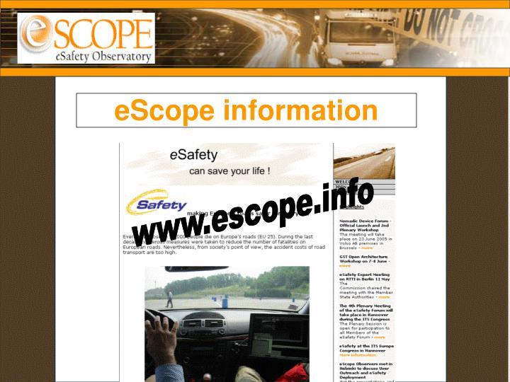 eScope information