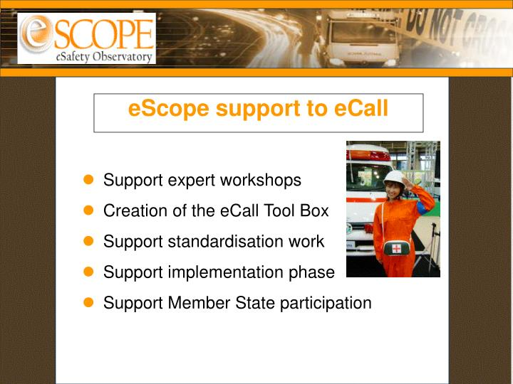 eScope support to eCall
