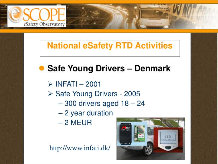 National eSafety RTD Activities