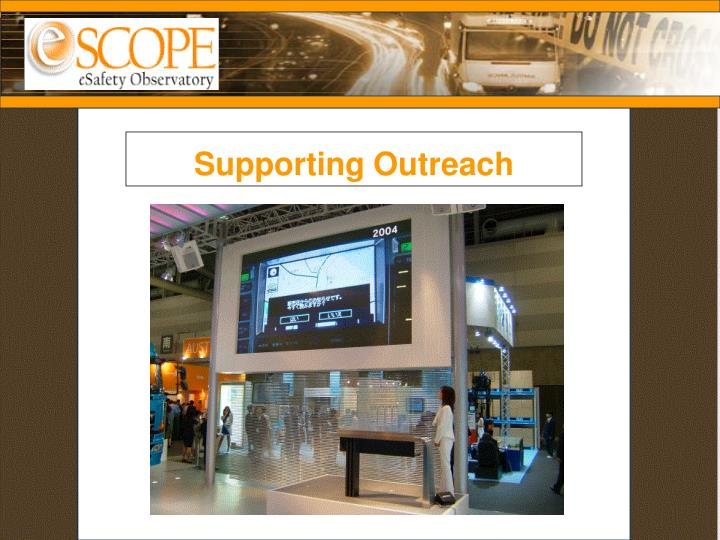 Supporting Outreach
