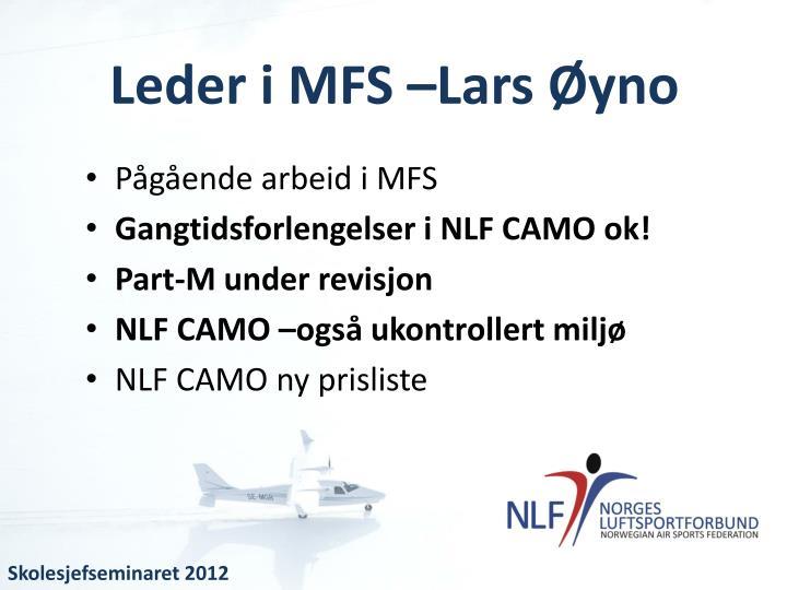 Leder i MFS –Lars