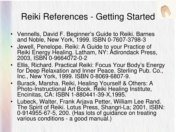 Reiki References - Getting Started