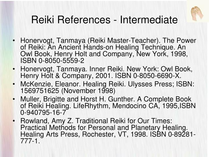 Reiki References - Intermediate