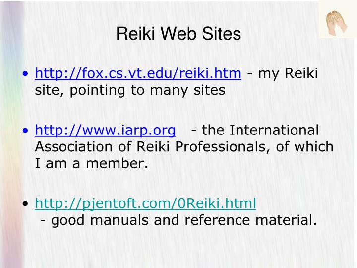 Reiki Web Sites