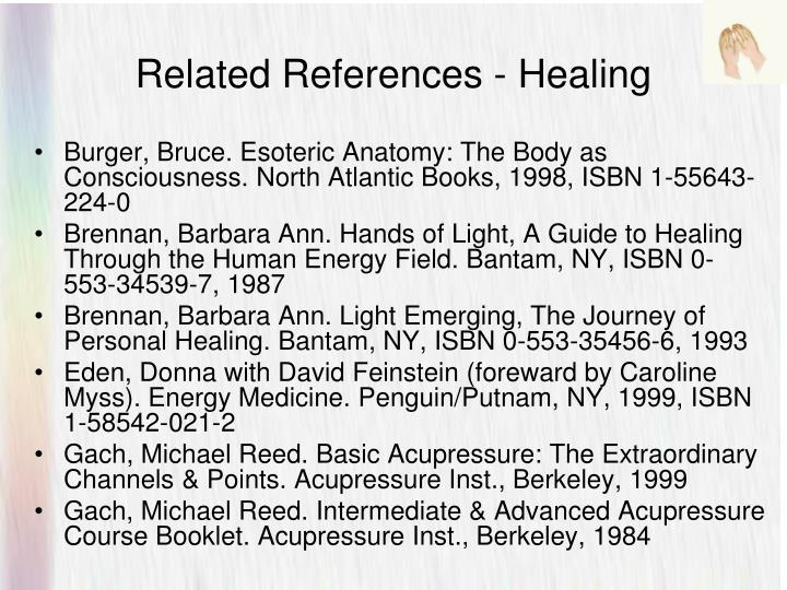 Related References - Healing