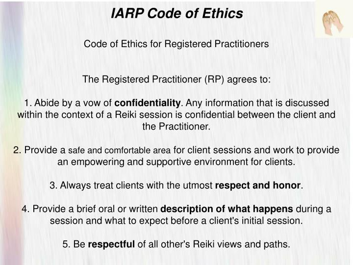 IARP Code of Ethics