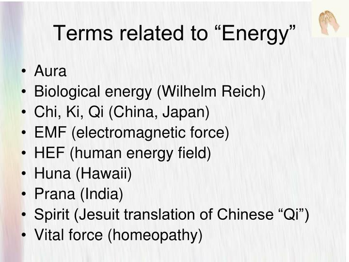 "Terms related to ""Energy"""