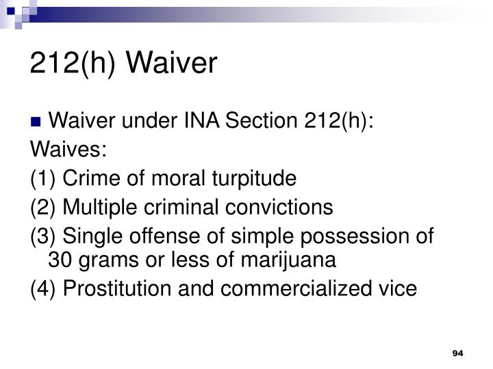 212(h) Waiver