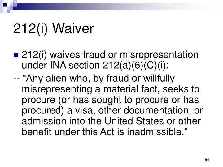 212(i) Waiver