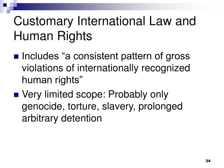 Customary International Law and Human Rights
