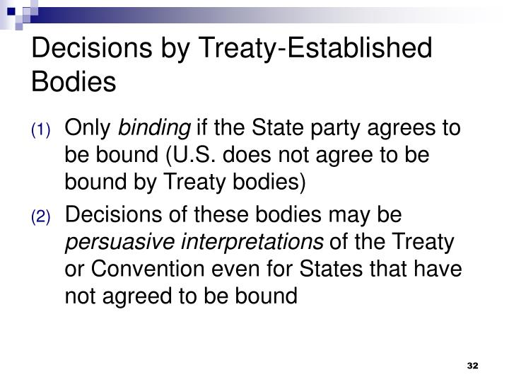 Decisions by Treaty-Established Bodies