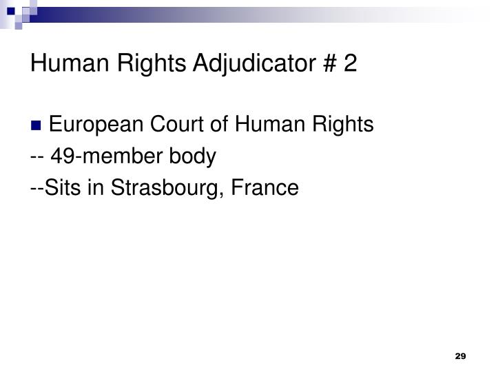 Human Rights Adjudicator # 2