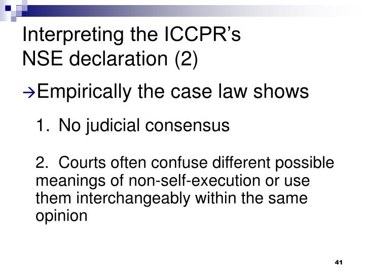 Interpreting the ICCPR's
