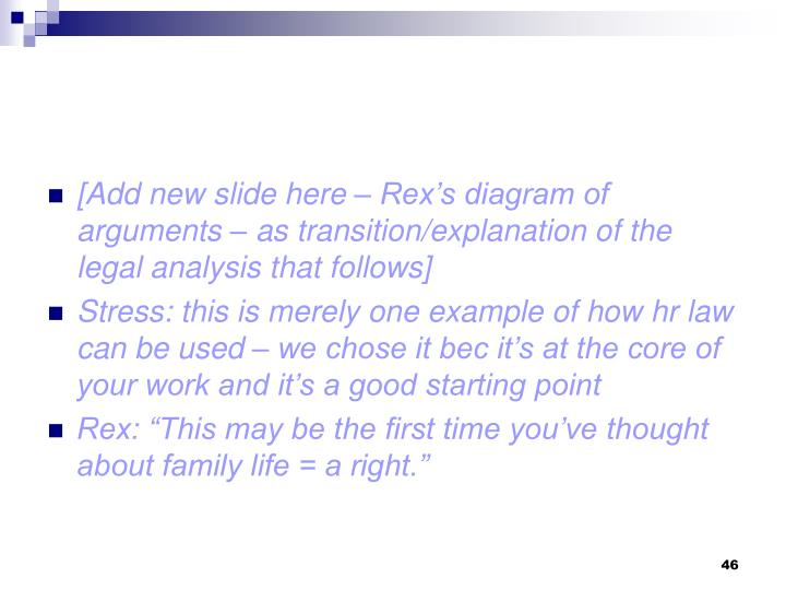 [Add new slide here – Rex's diagram of arguments – as transition/explanation of the legal analysis that follows]