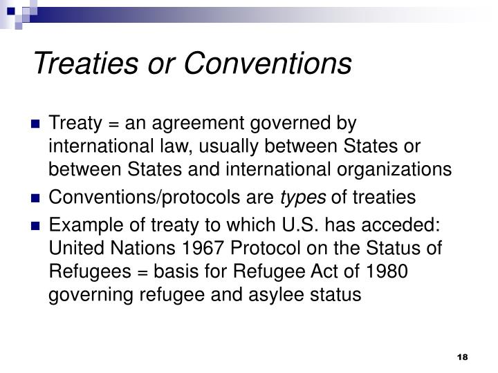 Treaties or Conventions