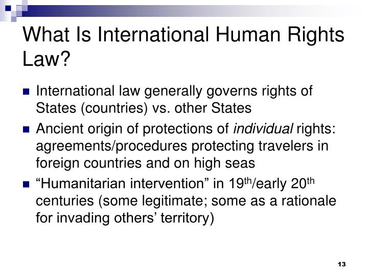 What Is International Human Rights Law?