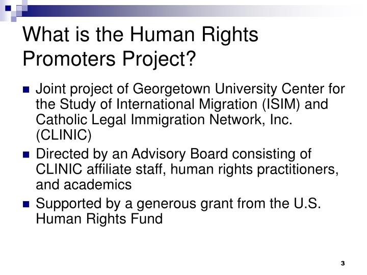 What is the human rights promoters project