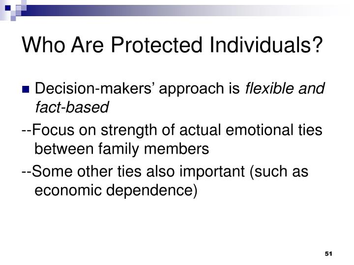 Who Are Protected Individuals?