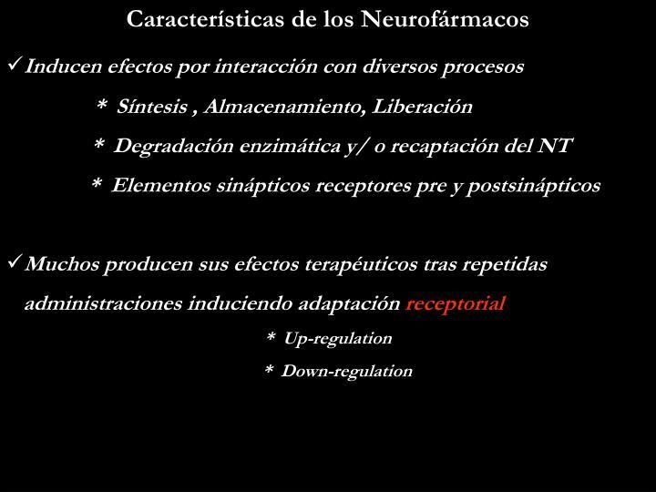 Características de los Neurofármacos