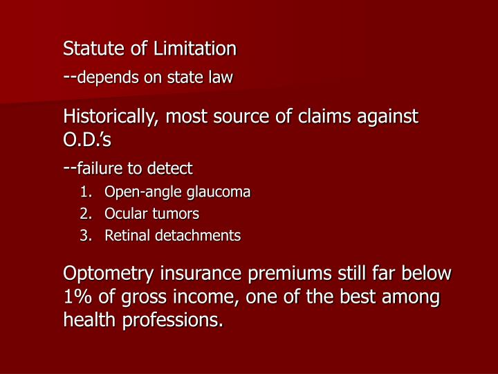 Statute of Limitation