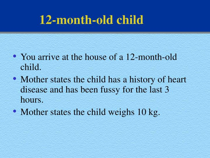 12-month-old child