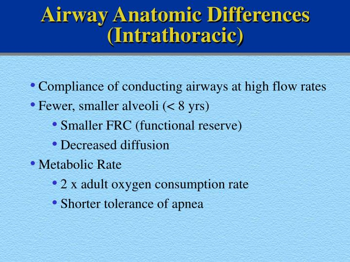 Airway Anatomic Differences