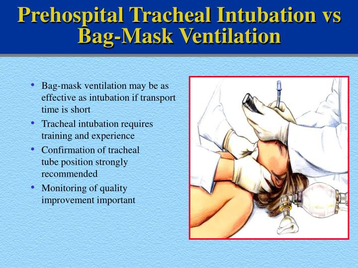Prehospital Tracheal Intubation vs Bag-Mask Ventilation