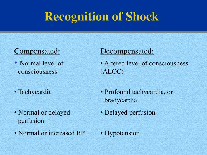 Recognition of Shock