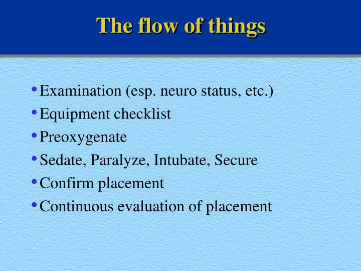 The flow of things