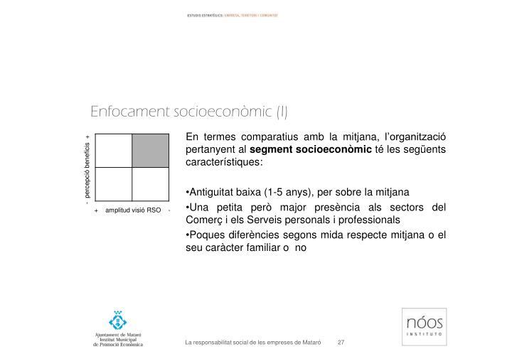 Enfocament socioeconòmic (I)