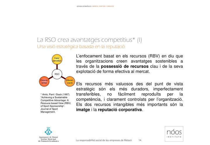 La RSO crea avantatges competitius* (I)