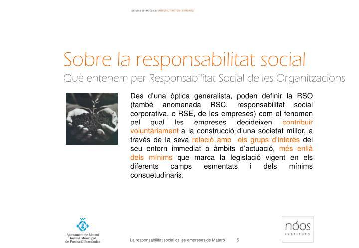 Sobre la responsabilitat social