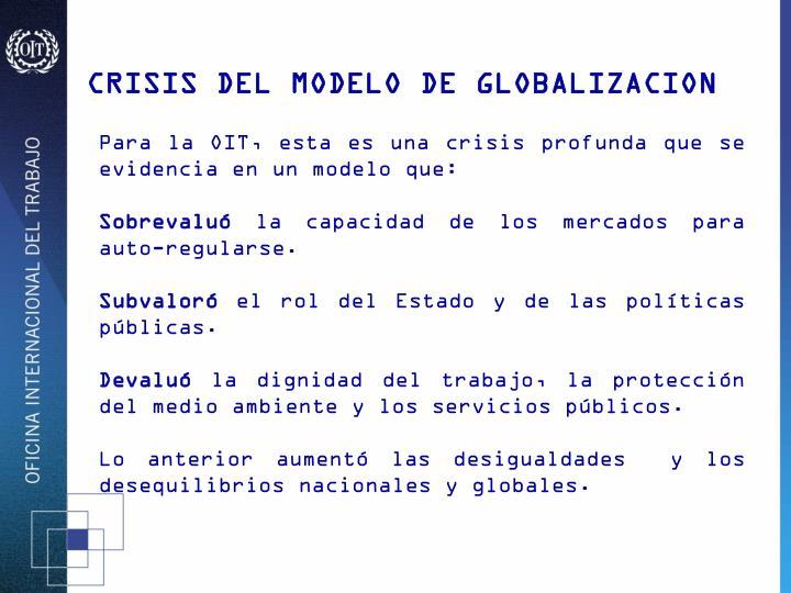 CRISIS DEL MODELO DE GLOBALIZACION