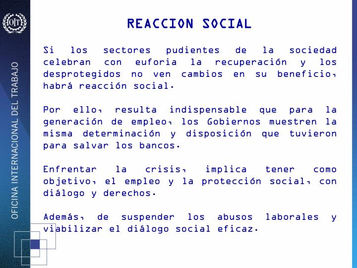 REACCION SOCIAL