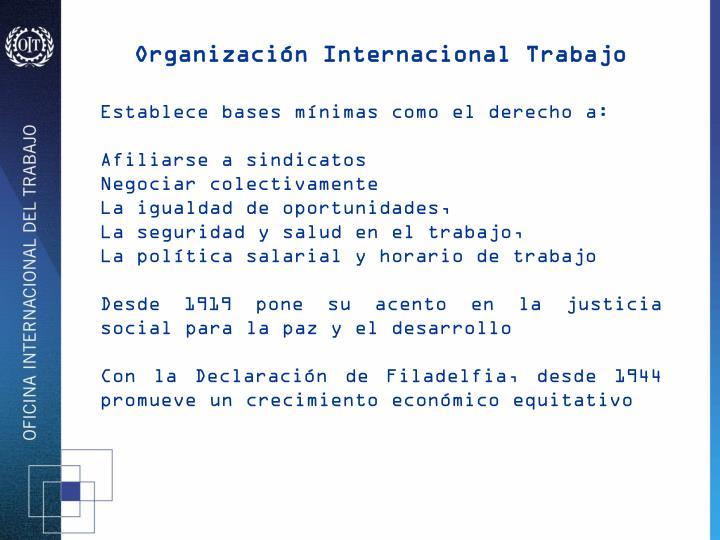 Organización Internacional Trabajo