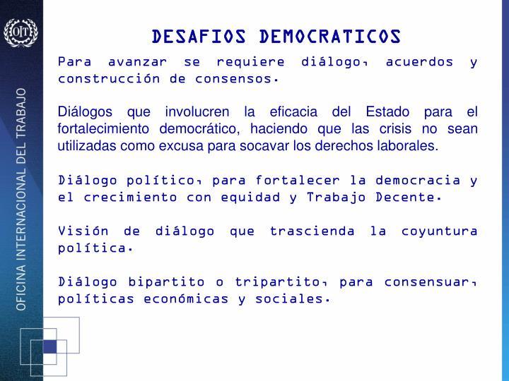 DESAFIOS DEMOCRATICOS