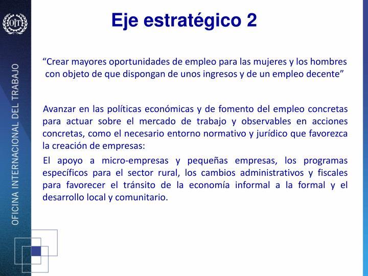 Eje estratégico 2