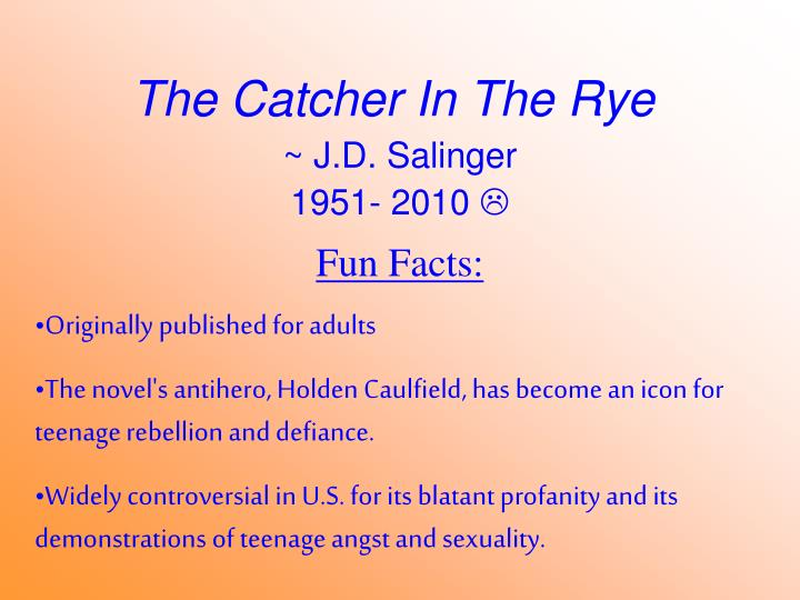 catcher in the rye analysis questions