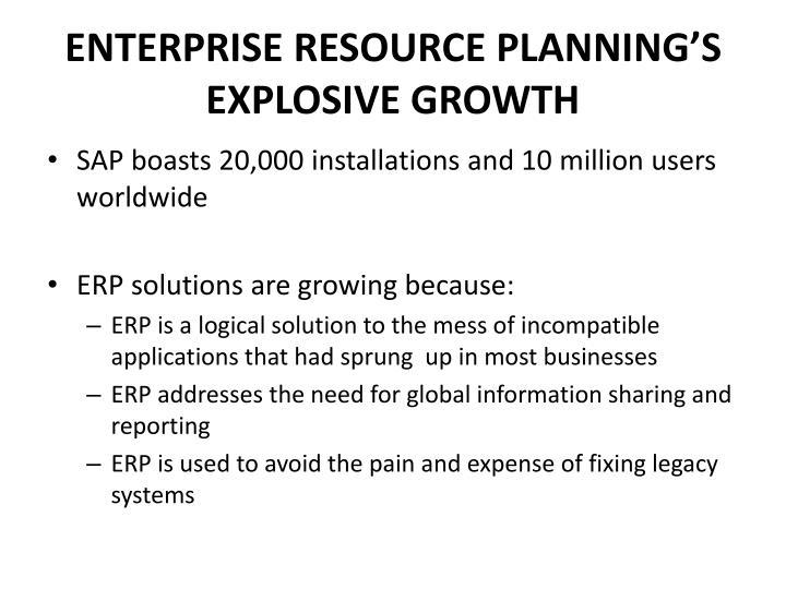 ENTERPRISE RESOURCE PLANNING'S EXPLOSIVE GROWTH
