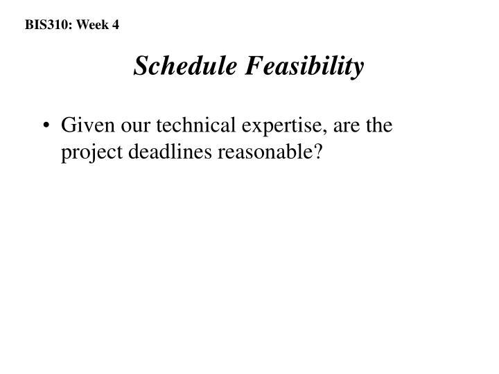 Schedule Feasibility