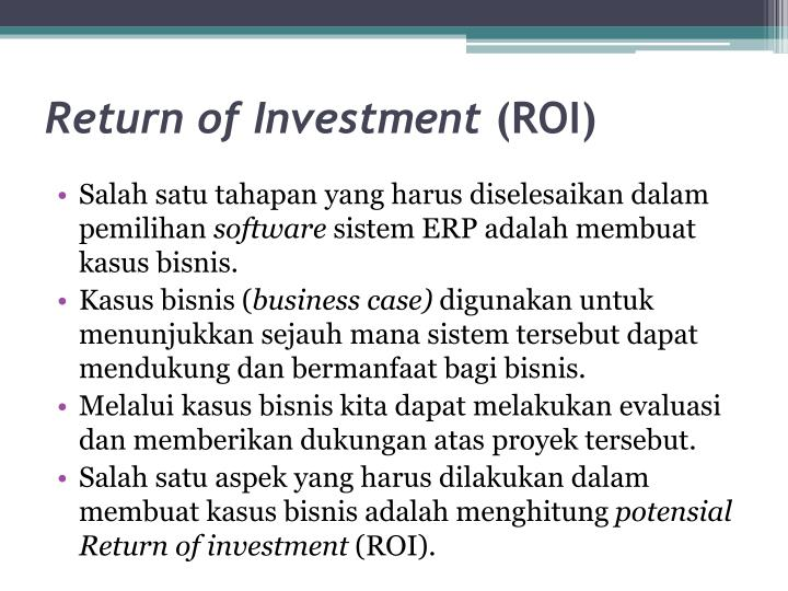Return of investment roi1