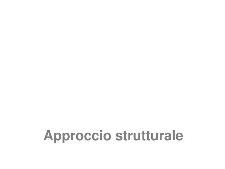 Approccio strutturale