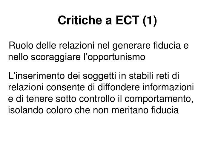Critiche a ECT (1)