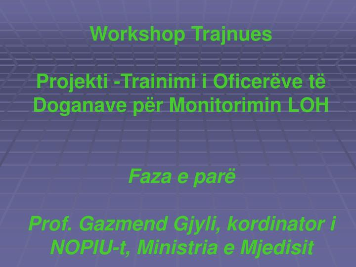 Workshop Trajnues