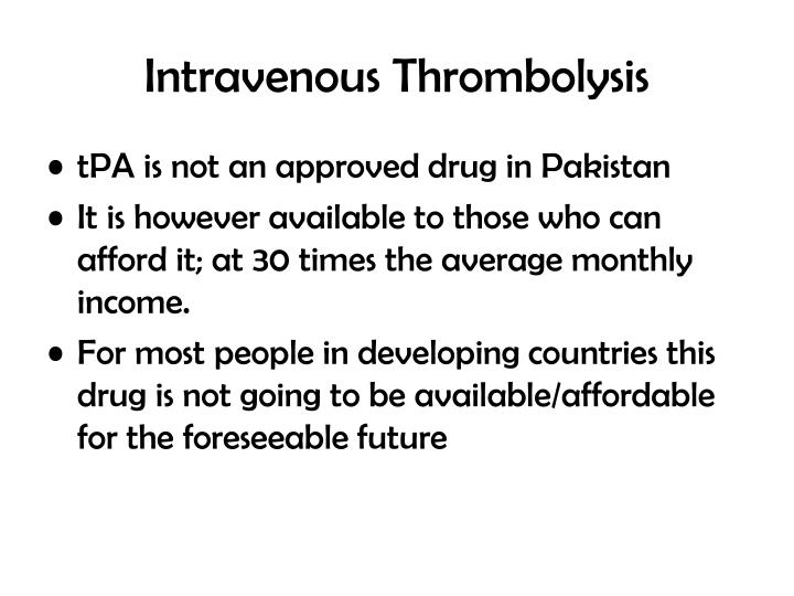 Intravenous Thrombolysis